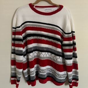 alfred dunner Striped Holiday Sweater